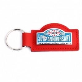 Porte clé rouge \ 50 th anniversaire \