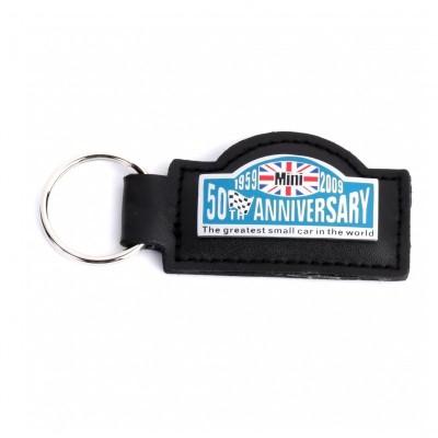 PM504 Porte clé cuir Noir 50 th anniversaire