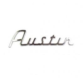 Badge AUSTIN sur malle ar de 59 à 67-lettres chromées-