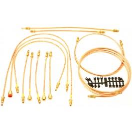 Kit tuyaux de freins disques & servo