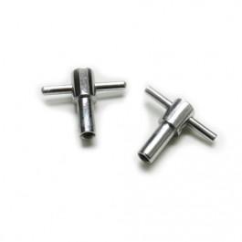"""Kit """" T """" chromés + rondelles pour fixation de cache culbuteurs"""