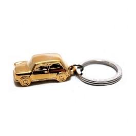 Porte clés MINI dorée en relief