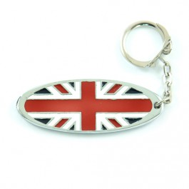 Porte clés oval émaillé - union jack