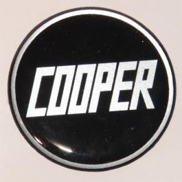 badge autollant 42mm COOPER ROUGE