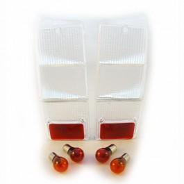 Kit de 4 cabochons arriére blancs avec ampoules