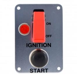 Platine intérrupteur poussoir + 1 interrupteur + 1 temoin