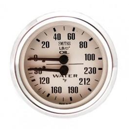SIB130MG-Mano double SMITH pression d'huile/température d'eau magnolia