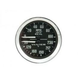 Mano double SMITH pression d'huile/température d'eau noir
