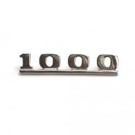 Badge arriere ''1000'' pour AUSTIN & MORRIS COOPER