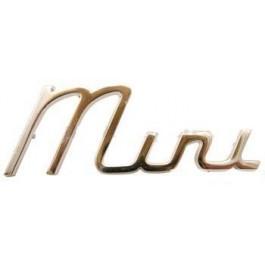 Badge MINI sur malle ar - lettres chromées