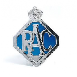 Badge RAC chromé