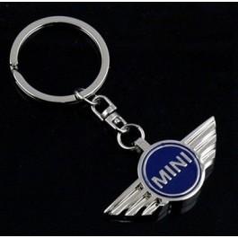 Porte clé sigle Mini bleu