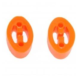 Jeu de 2 silent blocs support d'échappement (polyurethane)