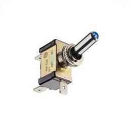 Intérrupteur ON/OFF métal avec LED bleu