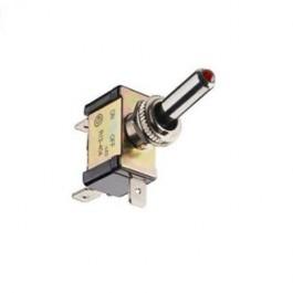 Intérrupteur ON/OFF métal avec LED rouge