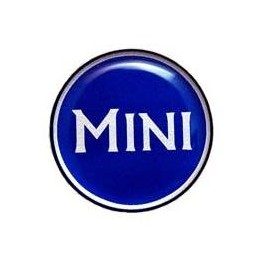 Badge autocollant 42 mm - MINI BLANC