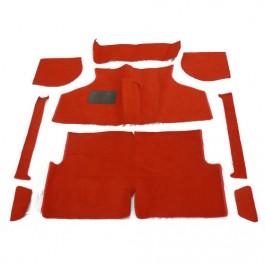 CARPET05-jeu de moquette rouge 9 pieces austin mini