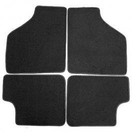 CARPET08-Jeu de 4 tapis noir