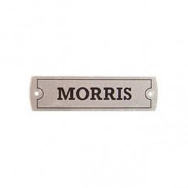 """cp364-Plaque métal de cache culbuteurs """" MORRIS """""""