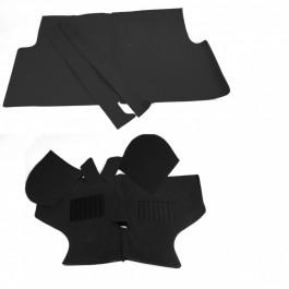CARPET01-jeu de moquette noire 9 pieces austin mini