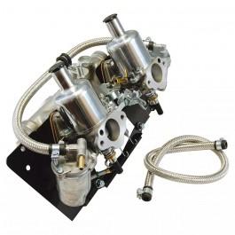 FZX3052A-Paire de carburateur HS2 + pipe et tringlerie
