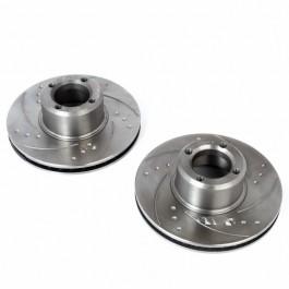 Paire de disques de frein 8.4\ ventilés rainurés et percés
