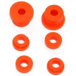 Jeu de 6 silent blocs de berceau arriére(polyurethane) - à partir de 1976